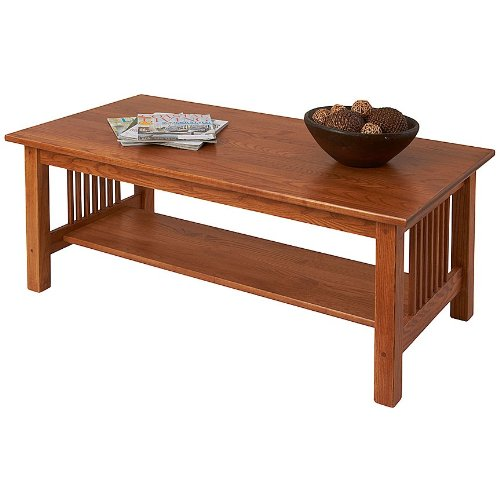 Wood Mission Coffee Table (Manchester Wood Mission Coffee Table - Golden Oak)