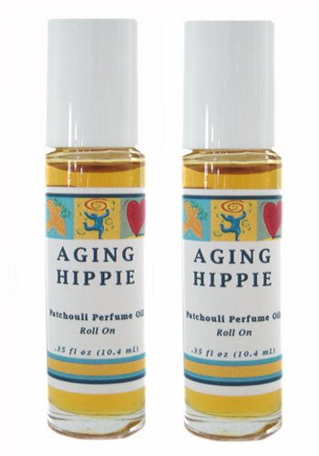 Parfum Free Ship - Aging Hippie Patchouli Aromatherapy Perfume Roll On - Set of 2 (THIS ITEM SHIPS FREE ! PROMOTION APPLIED DURING CHECK OUT)