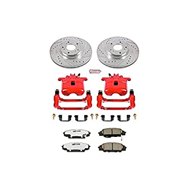 Power Stop KC2439-26 Z26 Street Warrior Brake Kit with Powder Coated Caliper