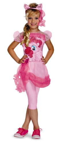 Hasbro's My Little Pony Pinkie Pie Classic Girls Costume, Medium/3T-4T (My Little Pony Flip & Whirl Rainbow Dash)