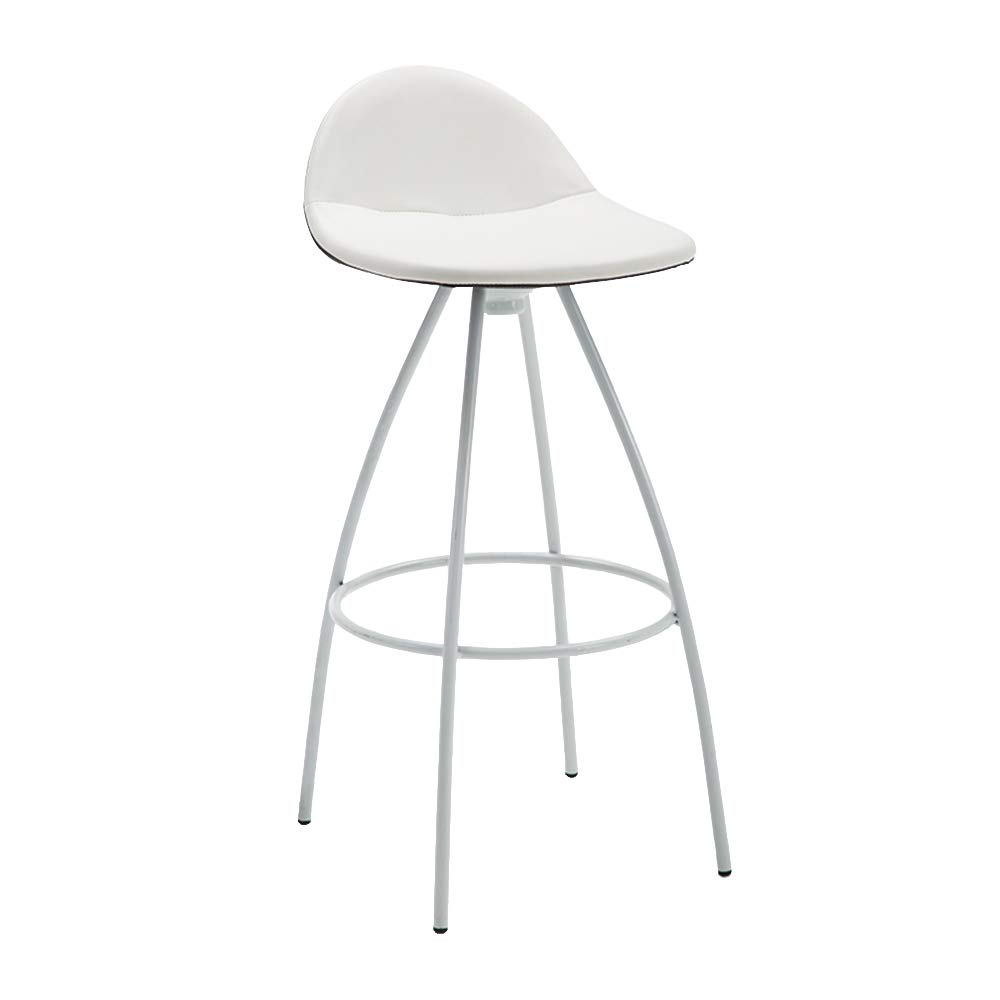 C XIAOYAN Simple Wrought Iron Bar Stool Nordic Cafe High Backrest Leisure Chair 5 colors Optional (color   C)
