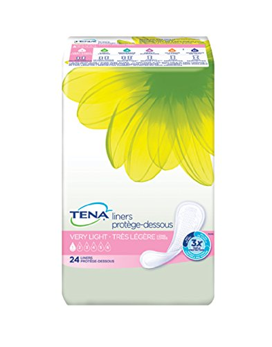 Tena Serenity Pantiliners, Regular Absorbency, 26-Count Packages (Pack of 6)