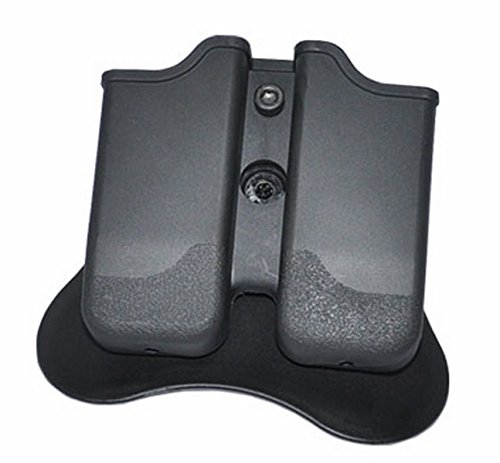 ar TSG-MPP2 Polymer Modular Double Magazine Pouch Taurus Beretta Springfield Ruger Walther - Black ()