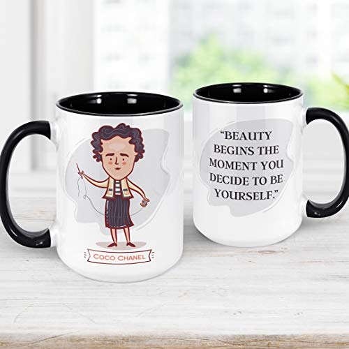 Coco Chanel Quote Coffee Mug | Motivational Microwave Dishwasher Safe Ceramic Cup