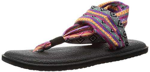 Magenta Water - Sanuk Women's Yoga Sling 2 Prints Flip Flop, Magenta/Multi Tribal Stripe, 10 M US