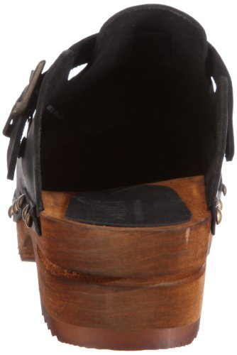 And open Black Wood Women's 2 Sanita Kristel Mules Schwarz Clogs Ap4IW4PSqn