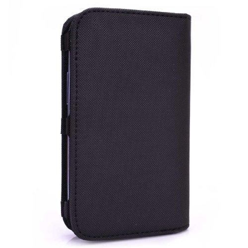 [Bi-Fold] BLACK |Samsung Mpower Txt M369 Universal Phone Case with Card & Cash Holder | Unisex - Men / Women Wallet. BonusEkatomi Screen Cleaner