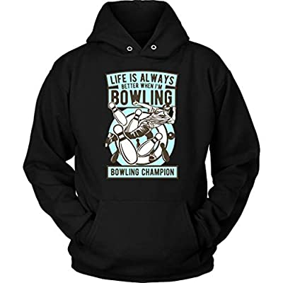 - 41k6GlCXoUL - Bowling Champion Cool Graphic Pull Over Hoodie- Best Unique Novelty Gift