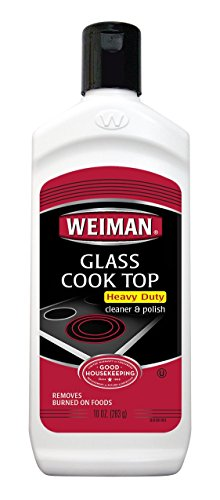 Weiman Glass Cooktop Heavy Duty Cleaner & Polish - Shines and Protects Glass Ceramic Smooth Top Ranges with its Gentle Formula - 10 Oz.