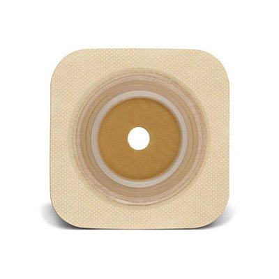 51125264BX - Sur-fit Natura Stomahesive Cut-to-fit Flexible Wafer 4 x 4 Flange 1-3/4 Tan