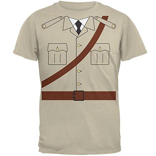 Halloween Safari Explorer Dr. Livingstone Costume Mens T Shirt Sand -