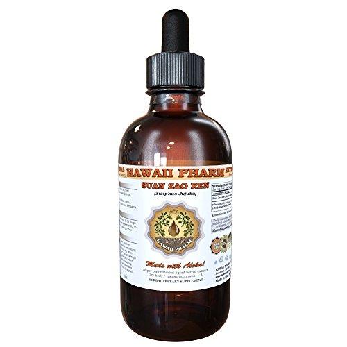 Suan Zao Ren (Ziziphus Jujuba) Tincture, Organic Dried Seeds Liquid Extract, Chinese Date, Herbal Supplement 2 oz