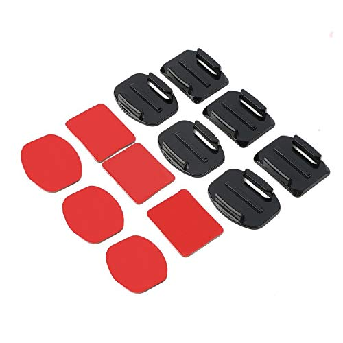 12Pcs Compact and Portable Helmet Accessories Flat Curved Adhesive ...