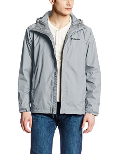 Columbia Men's Watertight II Front-Zip Hooded Rain Jacket,Columbia Grey,X-Large