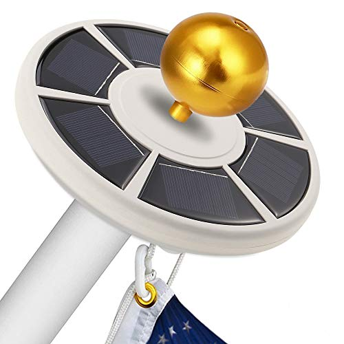 ANLEY [Upgraded Version] 26 Led Solar Powered Flag Pole Light - Ultra Bright Full Coverage Flagpole Downlight Downlight for Most 15 to 25 Ft Poles - Auto ON/Off - Weathproof Night Lighting