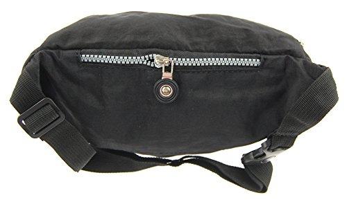 NB24 Versand Bauchtasche (2238), Gürteltasche, schwarz (201), Bag Street, Größe ca. 27 x 16 x 10 cm, Hüfttasche, Sporttasche, Geldtasche, Geldbörse