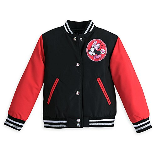 Disney Red Minnie Mouse Varsity Jacket for Girls Size 5/6 (Disney Varsity Jacket)