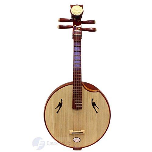 Eason Music Professional Grade Premium Rosewood Beijing Zhongruan with Steel Frets by Eason Music
