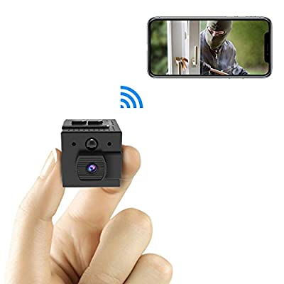 Mini Wifi Spy Camera, Conbrov WF98 960P Smallest Wireless Hidden Camera Nanny Cam with Motion Detection and Night Vision for Home Security, Support Max 128GB (NO SD CARD INCLUDED)