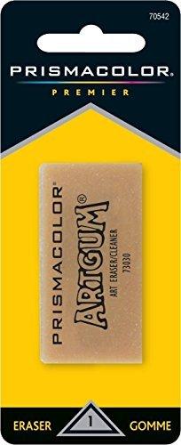 Sanford Design Art Gum Eraser, Artwork Eraser - Non-toxic - 1 / Pack - Brown, 3 Packs by Prismacolor