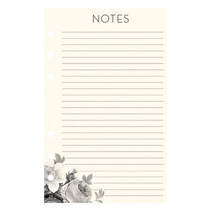 Compact Planner Love Lined Notepad - Blush Florals