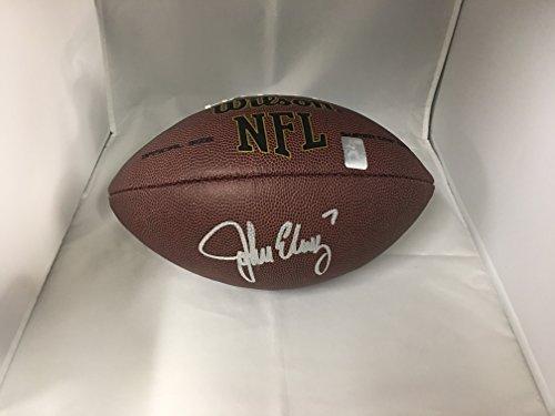 John Elway Autographed Signed Denver Broncos NFL Football Elway Personal Player Hologram - John Elway Autographed Football