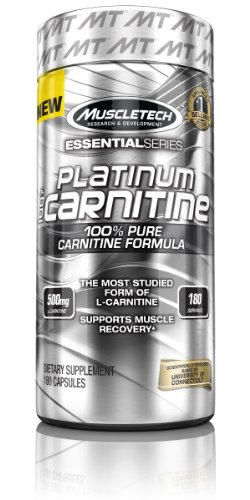 MuscleTech Platinum 100% Carnitine, 100% Pure Carnitine Form