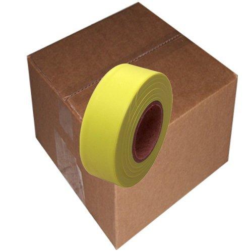 "Flagging Tape 1-3/16"" Non-Adhesive Plastic Ribbon, Fluore..."