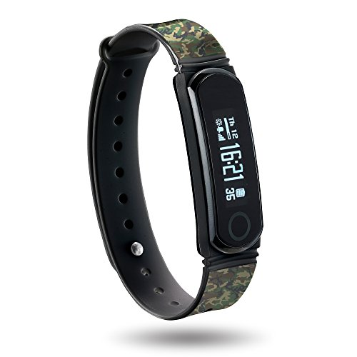 Q-Band Heart Rate Fitness Band - Q66HR - Watch, Activity, Steps, Fitness, Calories, Sleep Track, Heart Rate Detection Wristband - Wireless Bluetooth Synchronization with Mobile Devices - OLED Display