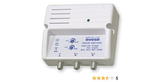 Amplificador domestico para la Television Digital Terrestre, con ganancia regulable.
