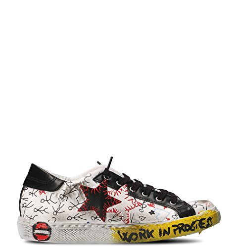 2STAR Women's 2S1812 Multicolor Leather Sneakers