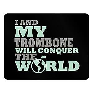Teeburon I and my Trombone will conquer the world Plastic Acrylic