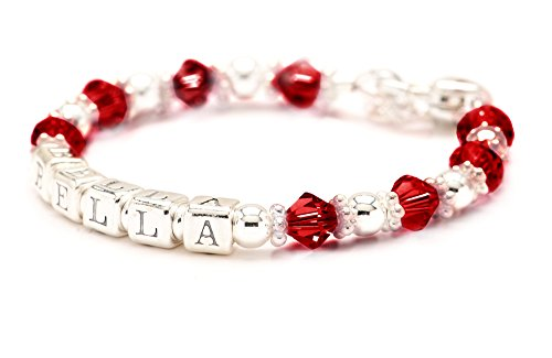 Baby Crystal Charm Bracelet (Personalized Baby Charm Bracelet - All Birth Month Crystal Colors (July))