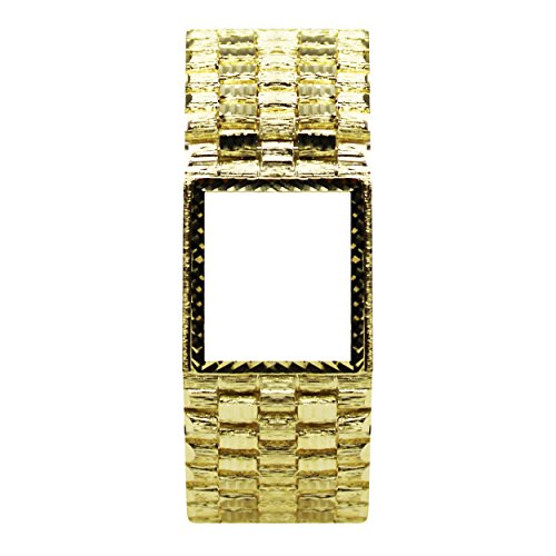 14k Yellow Gold Men's Nugget Watch (None)
