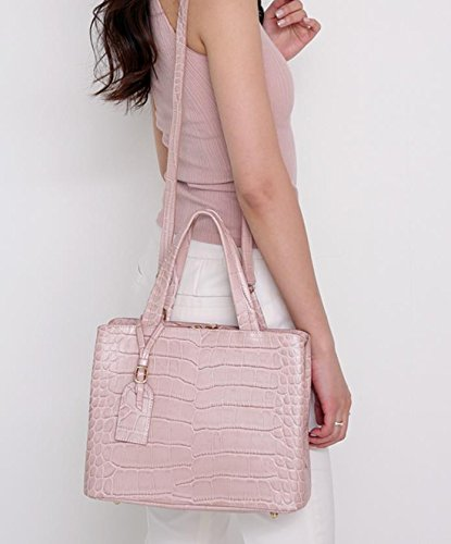 Bellina Wani Tote Shoulder Bag BB1218 (Pink) by Pristine&BB (Image #4)