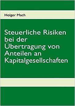 Book Steuerliche Risiken bei der Übertragung von Anteilen an Kapitalgesellschaften