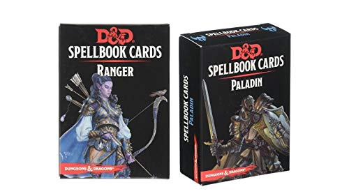 D&D: Spellbook Cards Bundle Including Ranger Spellbook Deck and Paladin