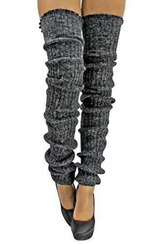 Luxury Divas Slouchy Thigh High Knit Dance Leg Warmers