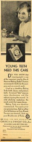 1929 Ad Church Dwight Arm Hammer Baking Soda Dental - Original Print Ad from PeriodPaper LLC-Collectible Original Print Archive