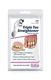 PediFix Podiatrists\' Choice Triple Toe Straightener - Left and Right Pack