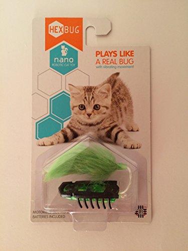 UPC 713179802077, HEXBUG Nano Robotic Bug Cat Kitten Motorized Toy Green Black with Extra Battery
