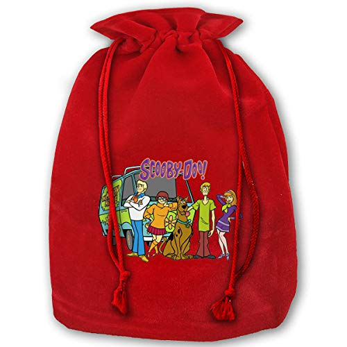 Hweoweek Bags Santa Sack with Drawstring, Scooby-Doo Family Reusable Fabric Present Wrapping Bag]()