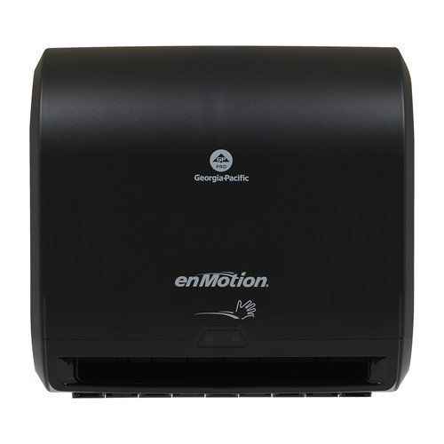 "enMotion Georgia Pacific PRO 59488A Impulse 10"" 1 Automated Touchless Roll Paper Towel Dispenser, Black, 1 Pack,"