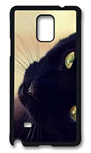 Adorable black cat face Hard Case Protective Shell Cell Phone For Case Samsung Galaxy Note 2 N7100 Cover
