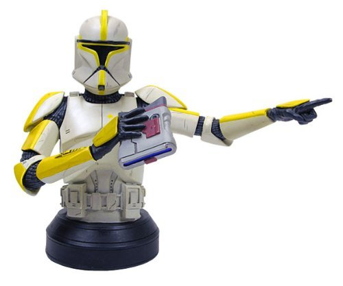 Star Wars: Clone Trooper Commander (Yellow) Deluxe Mini-Bust