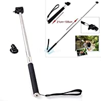 Gopro Accessories Extendable Handheld Selfie Stick Telescopic Monopod Mount Adapter Tripod Hero 3+ 4 SJ4000 SJ5000 M20 M10 WiFI Plus Xiaomi Yi Sport Camera from Vancca Inc