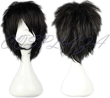 Amazon.com   COSPLAZA Cosplay Wig Short Spiky Black Heat Resistant ... 65a79e398