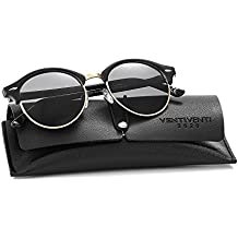 Polarized Sunglasses Stainless Steel Round Lens Semi Rimles PL269