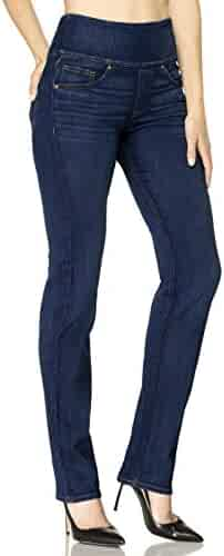 b70adef8e7222a SPANX Womens The Signature Straight High Rise Side Zip Straight Leg Jeans