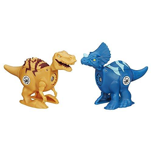 Jurassic World Brawlasaurs Tyrannosaurus Rex vs. Triceratops Figure Pack